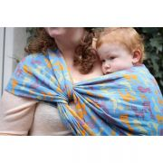 Chusta tkana Yaro, Cats Ultra Blue Orange Linen
